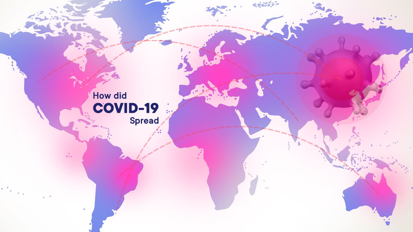 How did COVID-19 spread?